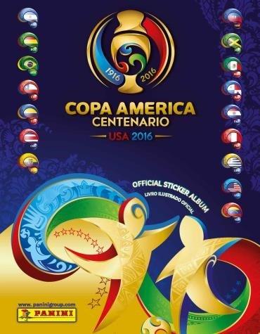Capa do Álbum de figurinhas Copa América Centenário 2016 da Panini