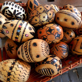 Decorated Wooden Eggs by Kathy Rose Willis - Artistic Objects Other Objects ( wooden, eggs, wood, decorated,  )
