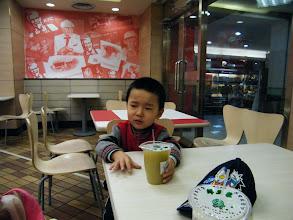 Photo: baby irritated.