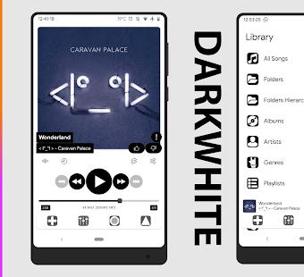 Darkwhite ⚡️ PowerAmp v3 Skin 1 2 APK Full Premium Cracked for