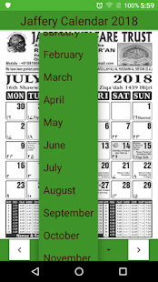 Jaffery Calendar 2018 - náhled