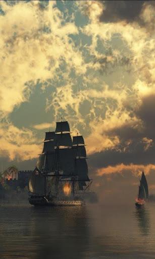 クリッパー船の壁紙