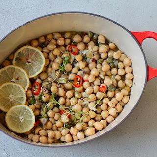 Olive Oil Braised Chickpeas.