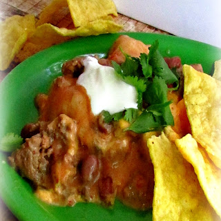 EASY Mexican Enchilada Casserole in Slow Cooker!.