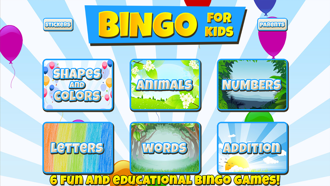 Bingo for Kids- screenshot