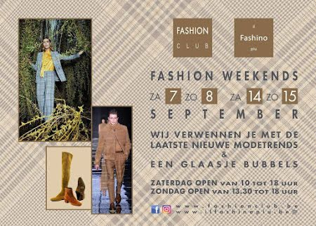Fashion Weekends 7, 8, 14 & 15 september
