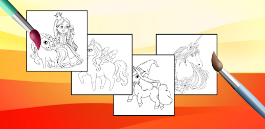 Unicorn Coloring Pages – Pony Coloring Book APK