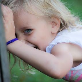 Tryin to hide by Matthew Westfall - Babies & Children Children Candids