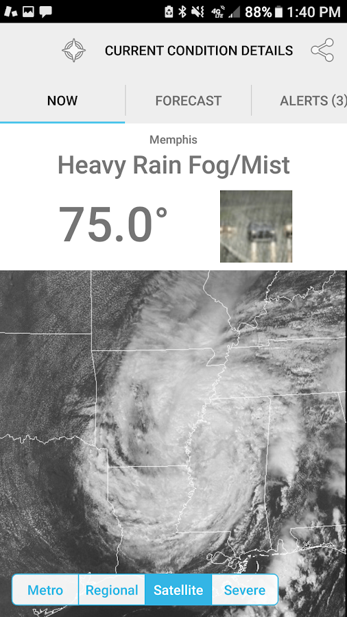 MemphisWeather.net- screenshot