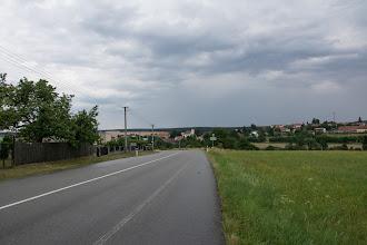 Photo: Za Boskovicami masakryczne stromy podjazd doŽďárnej. Oj dał mi on popalić !