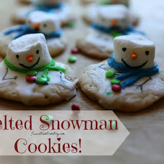 Melted Snowman Christmas Cookies.