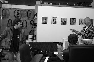 Photo: Lively debate in the studio