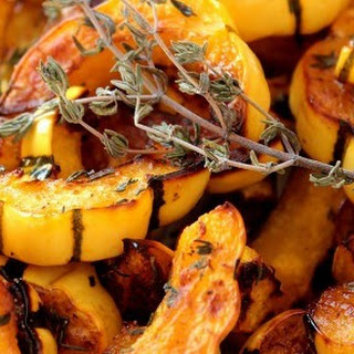 Roasted Delicata Squash with Orange and Thyme.