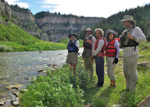 Photo: Group scouts Rattlesnake Rapid - RM 47.6