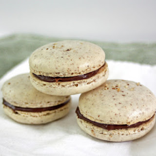 Hazelnut Macarons with Nutella Filling.