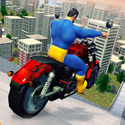 Super Hero Bike Mega Ramp - Racing Simulator