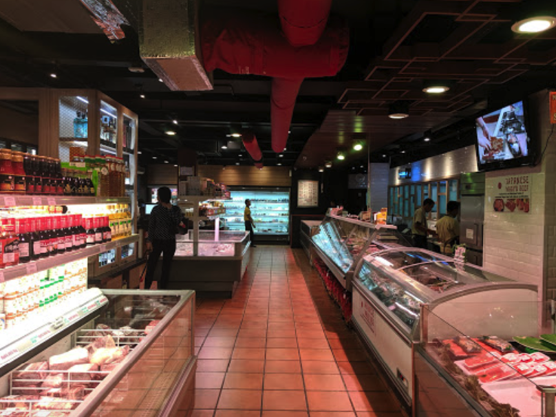 Indoor lane of Indoguna Meatshop