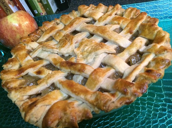 Place prepared crust into a deep dish pie pan. Add apple filling.