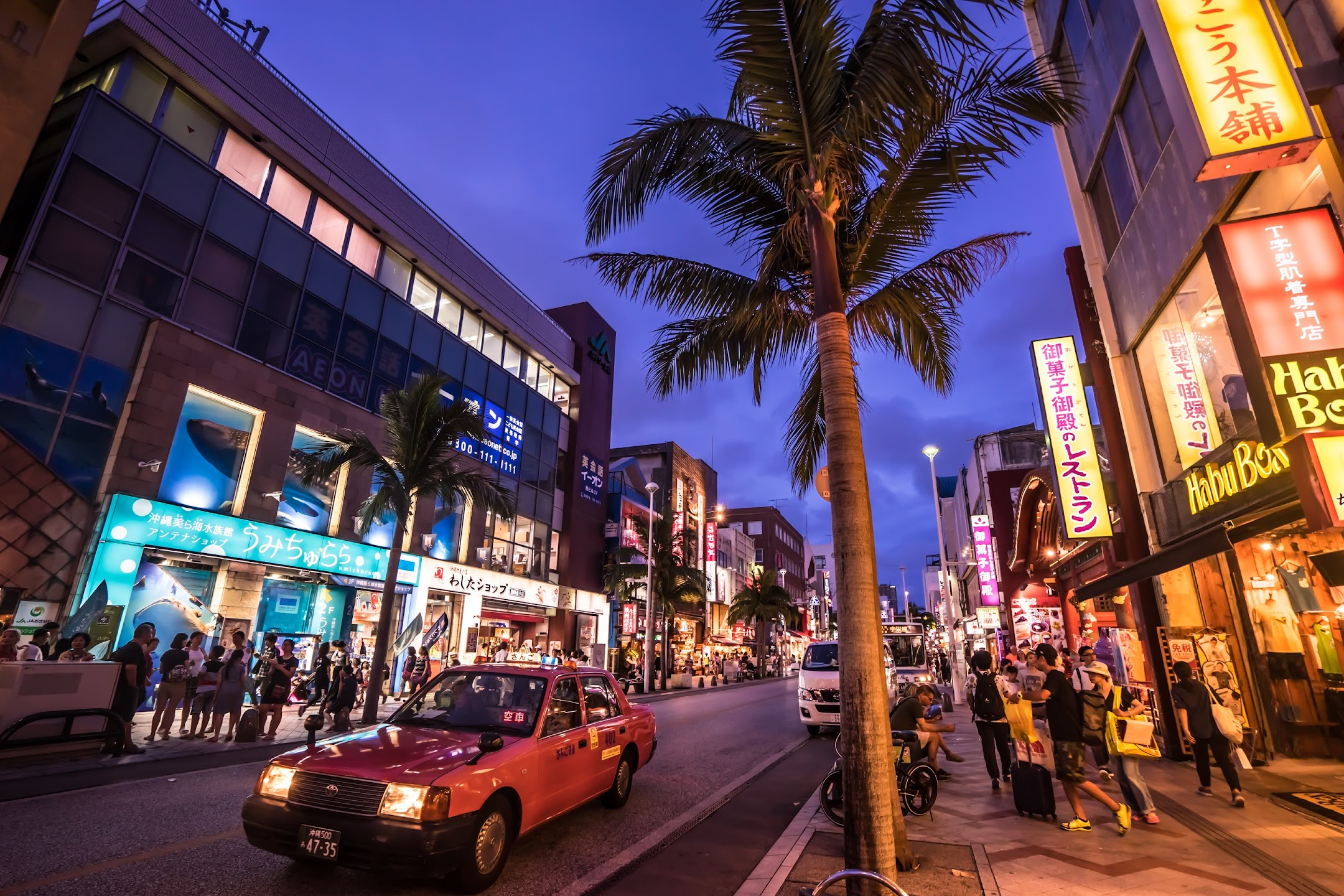 Okinawa Kokusai Street evening4