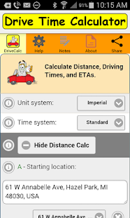Drive Time Calculator- screenshot thumbnail