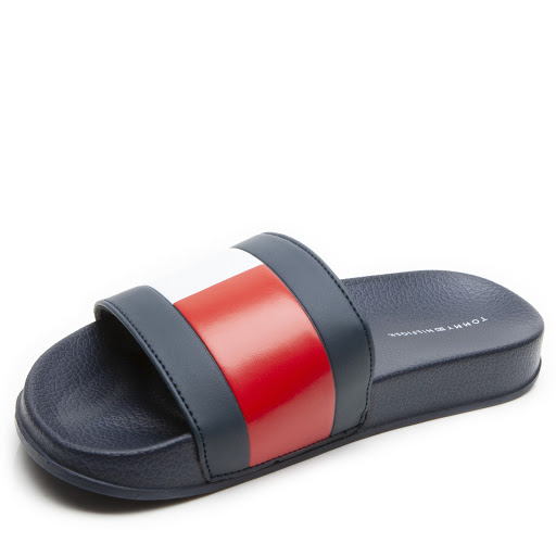 Thumbnail images of Tommy Hilfiger Navy Sliders