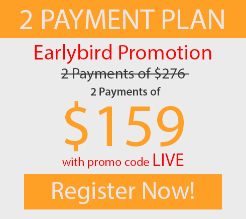 Earlybird 2 monthly payments of $159