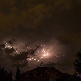 Storm 1 by Gabriela Zandomeni - City,  Street & Park  Night