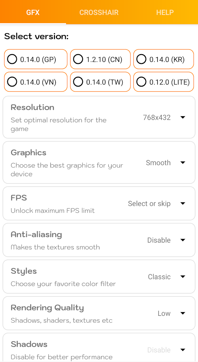 GFX Tool Pro – Game Booster for Battleground v3.0 [Paid] APK [Latest]