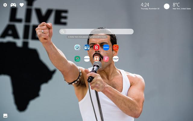 Bohemian Rhapsody Movie Themes New Tab