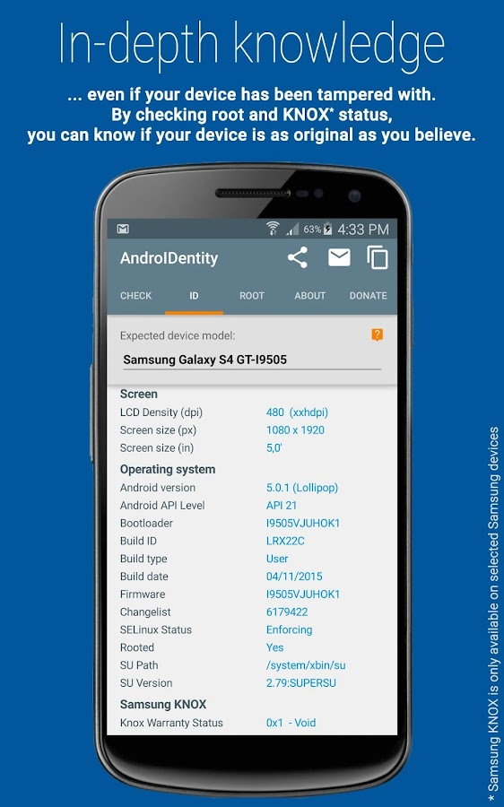 AndroIDentity- screenshot