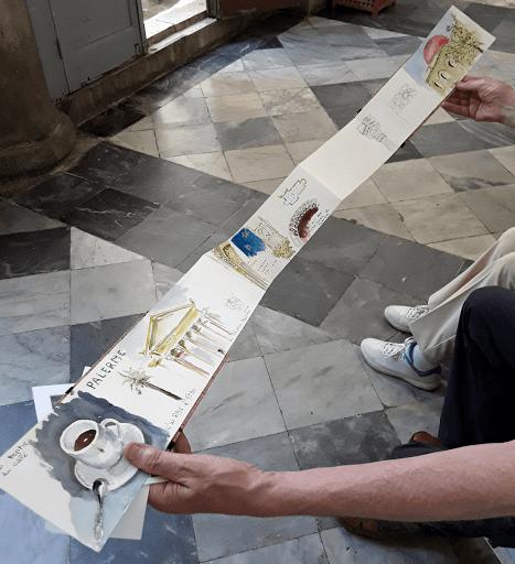 stage carnet de voyage aquarelle _ Jeanne PAPA_travaux d'éléves _naples sicile rome italie 02