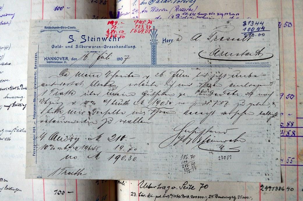 Kassenbuch - Geschäftsbuch eines Goldschmieds - 1905 bis 1931