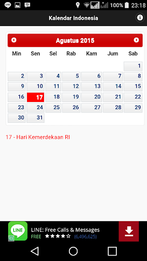 Indonesia Kalender Note