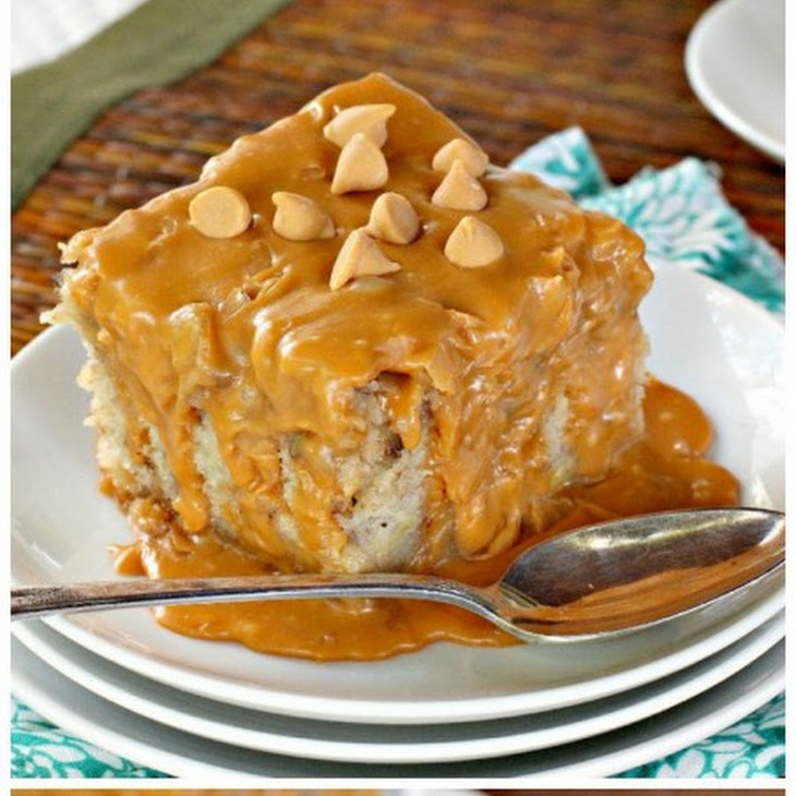 Banana Cake with Butterscotch Fudge Frosting Recipe