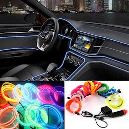 Set 2 benzi LED auto decorative, flexibile lumina ambientala