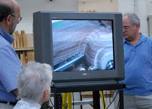 Photo: ... with the help of Mark Verna on camera, the cuts were shown up-close.