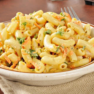 Cheese and Veggie Macaroni Salad.