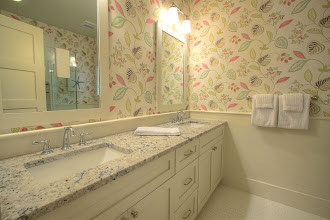 Photo: 2nd floor guest king bath with double sink and walk-in shower.