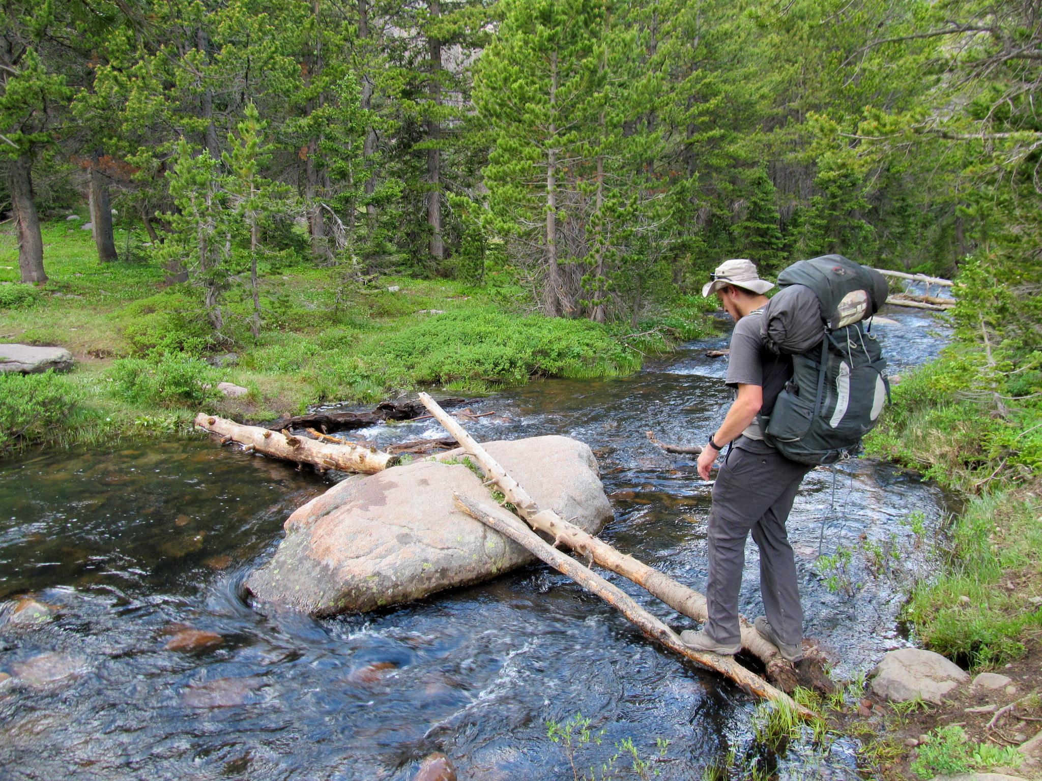 Photo: Improvised creek crossing