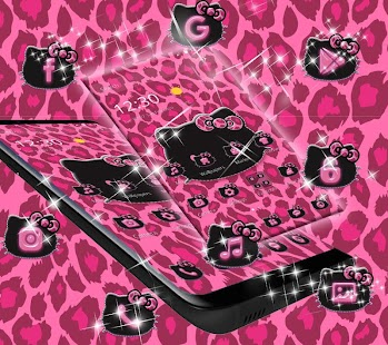 Pink Kitty Shine Leopard Cute Kitten Theme- screenshot thumbnail
