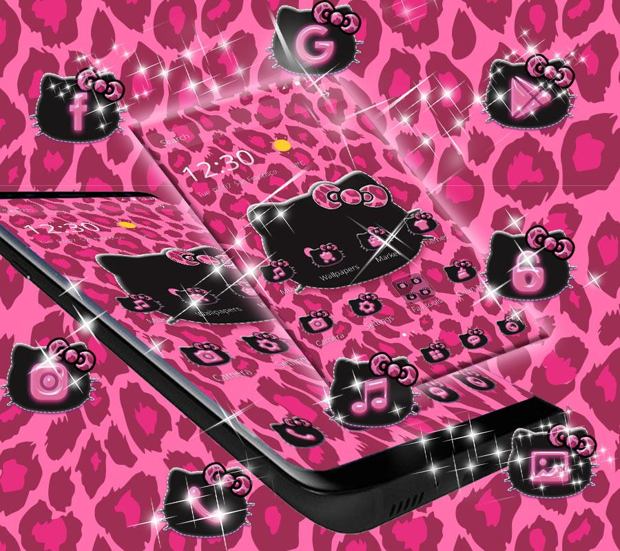 Pink Kitty Shine Leopard Cute Kitten Theme- screenshot