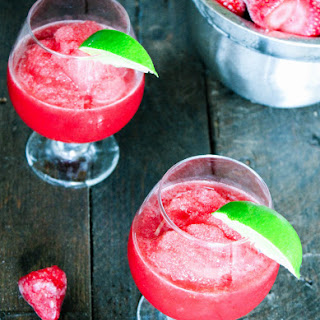 Red Wine Strawberry Lime Slushy
