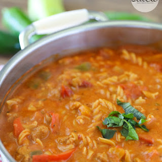 Spicy Sausage & Pepper One-Pot Pasta