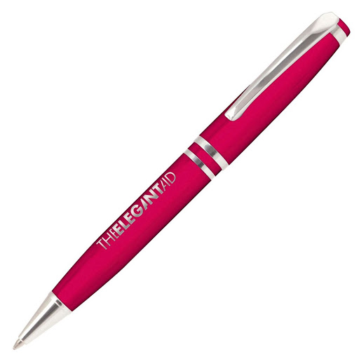 Ball Pen with Twist Action (Pink)