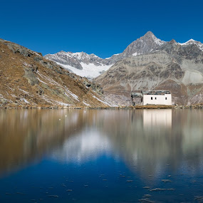 by Carlos Kiroga - Landscapes Mountains & Hills ( mirror, mountain, nature, church, ice, snow, lake, alps, alpine )