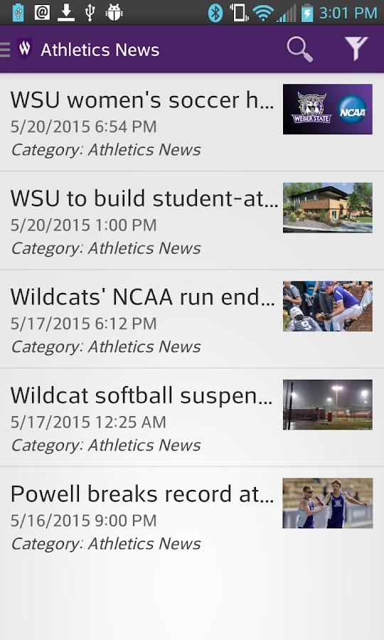 WSU Mobile- screenshot