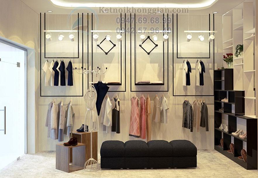 thiết kế shop thời trang 15m2 tại hà nội