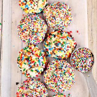 Nutella-Stuffed Funfetti Cake Mix Cookies