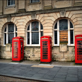 telephone boxes by Nic Scott - Artistic Objects Technology Objects ( telephone box, blackpool,  )