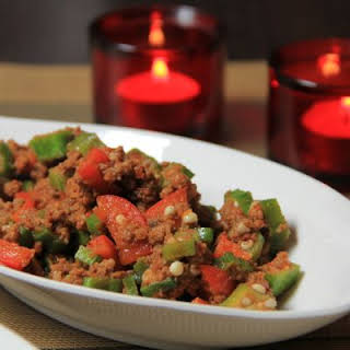 Beef and Okra Casserole.